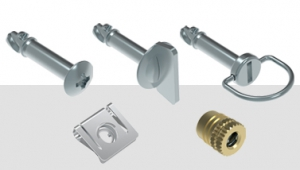 Quarter-Turn Captive Panel Screw with Back Press-Fit Nut Steel
